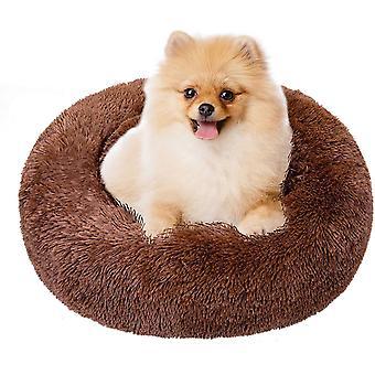 Hundebett, Haustierbett Rundes Plüsch, Katzenbett, Hundehaus, Welpen Kissen, Tragbare Warme Weiche