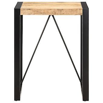 vidaXL Ruokapöytä 60x60x75 cm Karkea Mango Massiivipuu