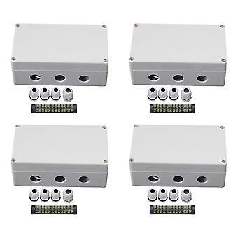 4PCS 12 Bit Junction Project Box Grey White 158x90x60mm