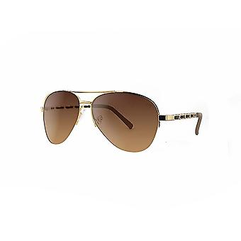 Ruby rocks metal new york aviator sunglasses with fabric braid detail temple in gold