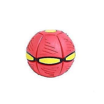 Keine hellrote Flugscheibe verformt Ballfliegen ufo fliegendes Spielzeug mit LED-Licht x5348