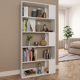 Bücherregal/Zimmerbildschirm 80X24X159 Cm Chipboard Weiß