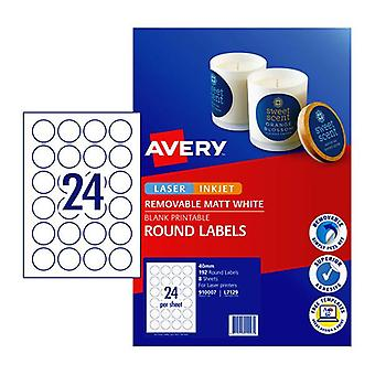 Avery Label Red L7129 40Mm 24Up Pack Of 8