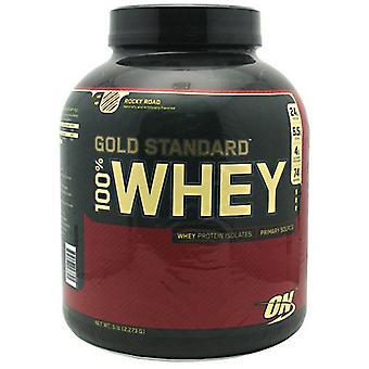 Optimum Nutrition 100% Whey Gold, Rocky Road 5.0 lb