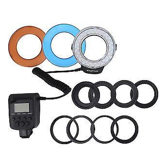 uusi ammattimainen makro led rengas valo 8 sovitin dslr kamera sm36887