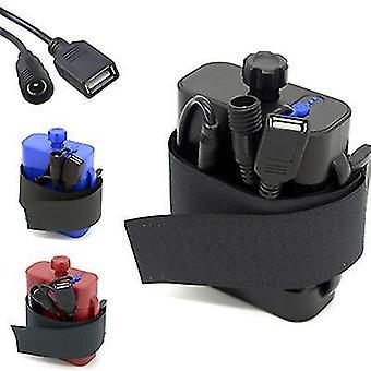8.4V battery pack 26650 battery box, USB/8.4VDC dual interface waterproof battery box(Blue)