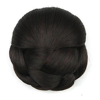 Haar Bun Perücke Chignons für Frauen hitzebeständige Haarteil Gummiband lockige Haar Donuts