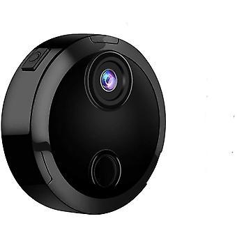 Mini-Kamera 1080P HD WiFi Überwachungskamera unterstützt Nachtsicht-Fernbedienung, mobile Erkennung und kleine drahtlose Gerätesteuerung (Schwarz)