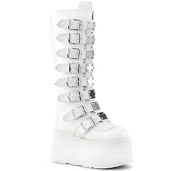 Demonia Women's Boots DAMNED-318 Wht Vegan Leather