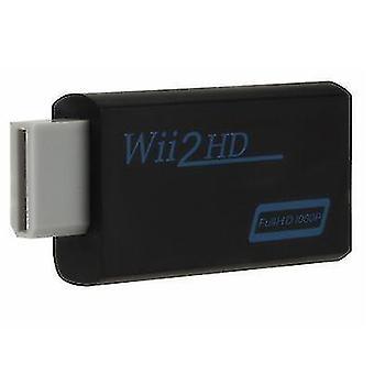 WII till HDMI-omvandlare, stöd HD 1080P-omvandlare, WII till HDMI (Svart)