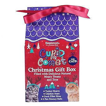 Rosewood Christmas Gift Box With Treats - For Cat - 100 G