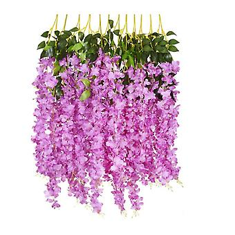 12 Pack 3.75ft Artificial Fake Wisteria Vine Ratta Hanging