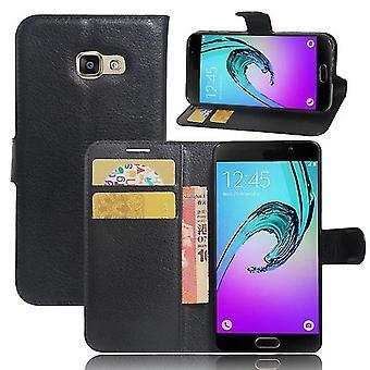 Samsung Galaxy A3 2017 Shockproof Folio Leather Shell Case - Black
