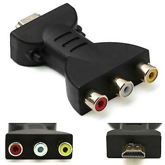 HDMI Mand til 3 RCA Kvindelige Composite AV Audio Video Adapter 4K Konverter til TV