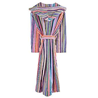 Bown of London Daylight Striped Hooded Dressing Dresswn - Mehrfarbig