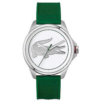 Lacoste LE CROC 43mm Green Silicone Strap 2011157 Watch