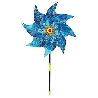 1pc Wind Spinner Windmill Kids Garden Decoration Rotation Glitter Sequin