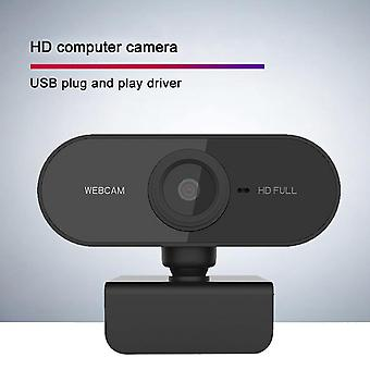 Webcam With Microphone, 30fps Full Hd 1080p Webcam Video Camera For Computers Pc Laptop Desktop, Usb Plug And Play, Conference Study, Meeting, Video C