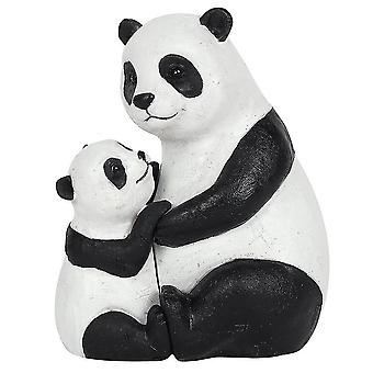 Holiday ornament displays stands mother and baby panda ornament