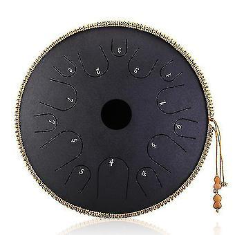Drum kits steel tongue drum 14 inch 14 tone drum handheld tank drum percussion instrument yoga meditation