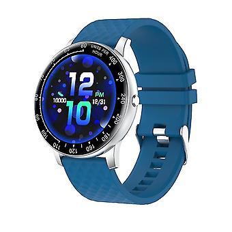 Smart Fitness Watch Tracker med blodtryk pulsmåler Ip67 Vandtæt (blå)