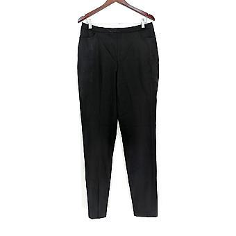 Isaac Mizrahi en direct! Pantalon Femme 12T 24/7 Stretch Slim Leg Noir A309568