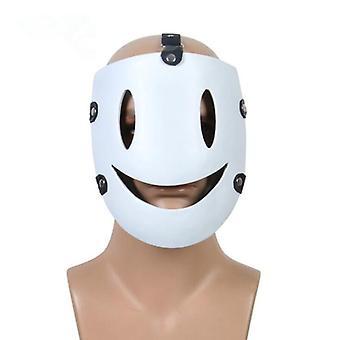 High-rise Invasion Anime Halloween Party Tenku Shinpan White Smile Resin Mask Cosplay Costume Scary Masks Prop