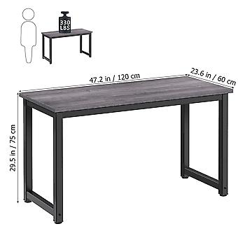 Computer Desk Simple Writing Desk With Metal Legs Laptop Table For Home Office Sofa Side 120x60x75cm (grey)