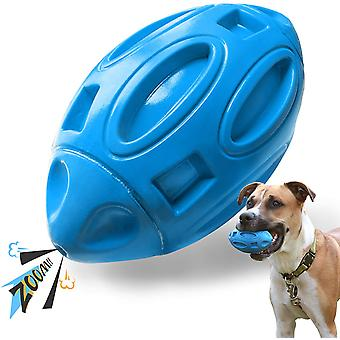 Aggressive Barking Dog Toy, Rubber Chew Ball With Chewing Sound. Sturdy And Durable, Suitable For Medium And Large Dogs. -blue