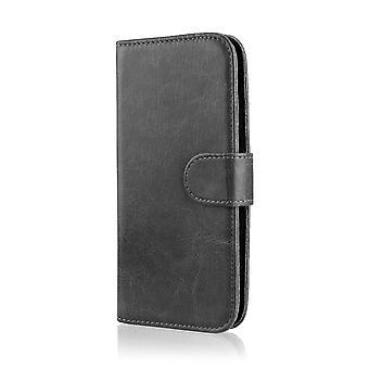 Книга карманы + стилус для LG K4 (2016) - черный