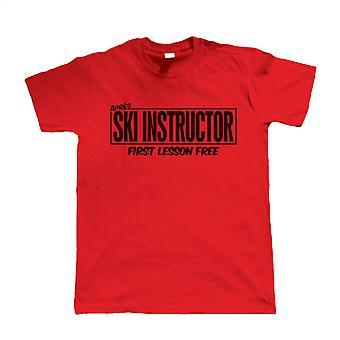 Instrutor de Esqui Apres, camiseta engraçada de esqui masculino