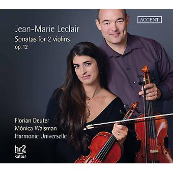 Leclair / Deuter / Waisman - Sons for Two Violins Op.12 [CD] USA import