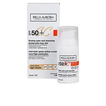 Bella Aurora CC krém anti-manchas Spf50 + #tono Medio pre ženy