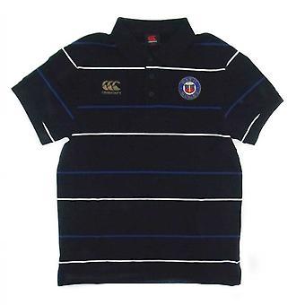 CCC Bath Rugby Polo in cotone Stripe Media [nero]