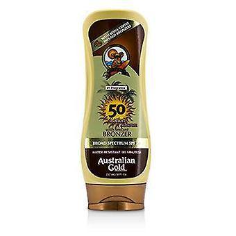 Australian Gold Lotion Sunscreen Broad Spectrum Spf 50 Con Instant Bronzer - 237ml/8oz