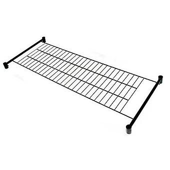 4' Bottom Shelf for our Caraselle Superior Black 4' Clothes Rail