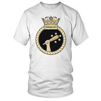 Royal Navy HMS turbulente damer T skjorte