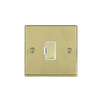 Hamilton Litestat Hartland Polished Brass 1g 13A Fuse Only PB/WH