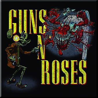 Guns N Roses Fridge Magnet Attack band logo new Official 76mm x 76mm