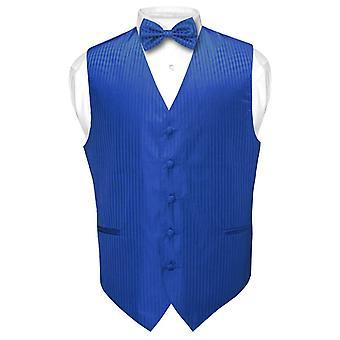 גברים ' s אפוד להתלבש & bowtie אנכי עיצוב פסים הגדר עניבה