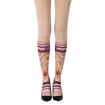 Zohara ZOF453-POMC ženy ' s ponožka v záhrade prášok kože módne pančuchy