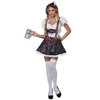 Flirty Fraulein Beer Maid Wench Bavarian Germany Oktoberfest Womens Costume