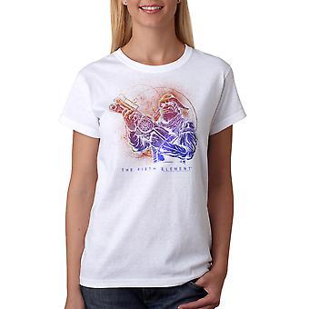 T-shirt blanc le cinquième élément Mangalore pistolet femmes