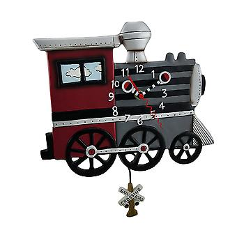 Whimsical brillantemente colorati Choo Choo Train orologio a pendolo