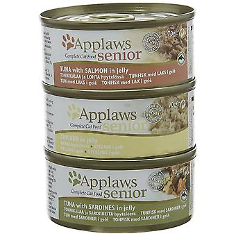 Applaws Multipack Tin de nourriture pour chat Senior 70 g x 6 pack