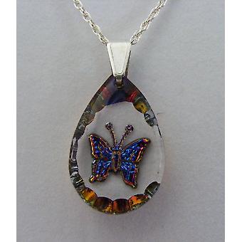 Heliotrop Teardrop Schmetterling Kristallanhänger
