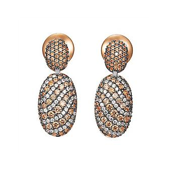 Joop women's earrings silver Rosé cubic zirconia EXTREME PAVÈE JPER90331C000
