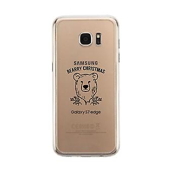 Bearry Christmas Bear Clear Phone Case