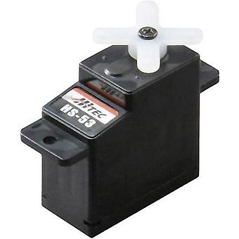 Hitec Mini servo HS-53 Analogue servo Gear box material: Plastic Connector system: JR