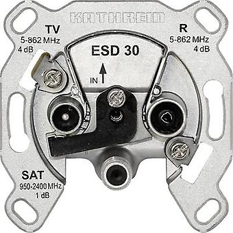 Kathrein ESD 30 Antenna presa SAT, TV, FM Flush mount
